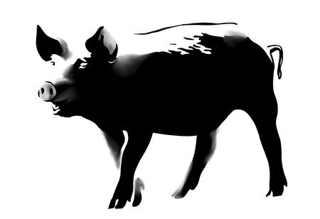 pig banksy style 1