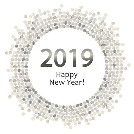 silver dots circle 2019