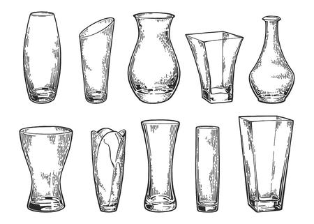 vase set sketch 2 Фото со стока