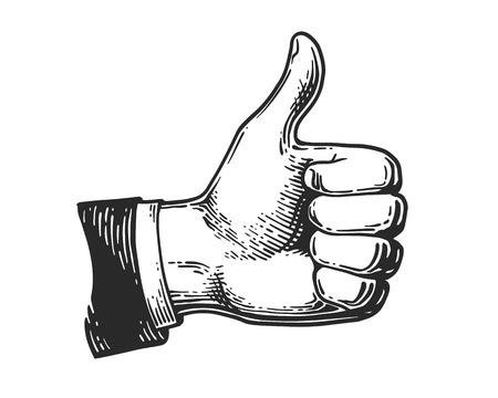 Hand wie Gravur