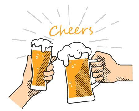 Beer cheers hand