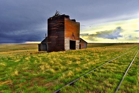 Grain Elevator on the western plains
