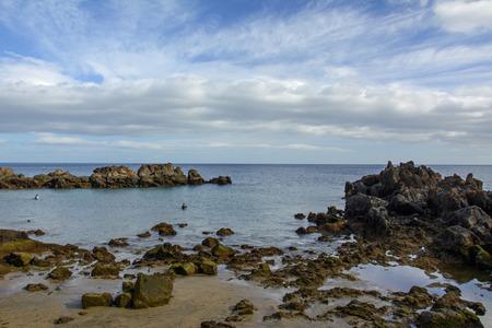 beach in Puerto del Carmen, Lanzarote, Canary Islands 스톡 콘텐츠