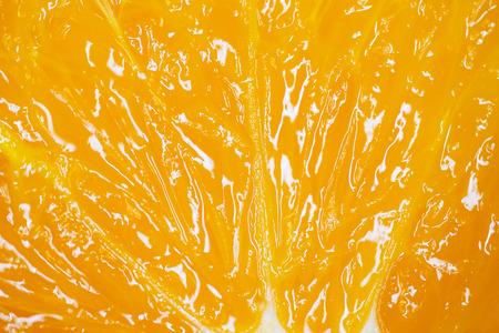 Orange cut in half macro shoot. Orange macro shooting.