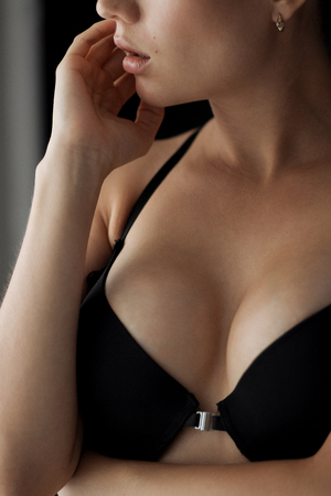 Young beautiful girl with magnificent breast