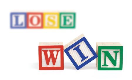 employment elementary school: Wooden alphabet blocks on white spelling,  Stock Photo
