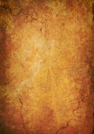 Colorful, red and orange rusted and stained metal background Stock Photo