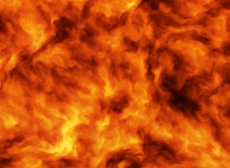hellfire: Illustrated wall of flame background representing and engulfing firestorm and intense heat. Stock Photo