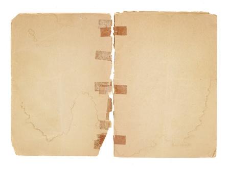 空白見開き 2 ページ、古いパンフレットから。非常に古いがあるテープが破損しているバインドに黄変します。本稿ではステンド グラス、破れや黄