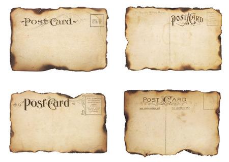 4 大きく高齢者、スタンプのポストからのカードの初期の 1900 年代のポストカード セットは主に追加のテキストや画像分離された白のための部屋と 写真素材