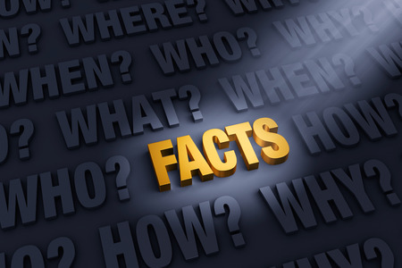 facts: A spotlight illuminates a bright, gold FACTS