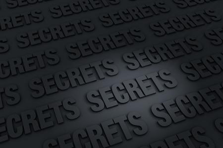 """discreto: Un fondo oscuro lleno de """"secretos"""" retroceso en la distancia."""