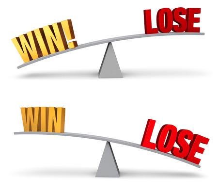 Goud te winnen en rode verliezen