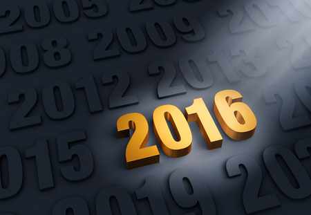 exciting: A shining, gold 2016 stands out in a dark field of other years