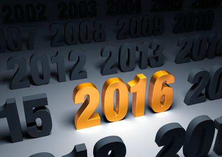 輝く、ゴールド「2016」で際立っている他年の暗視野