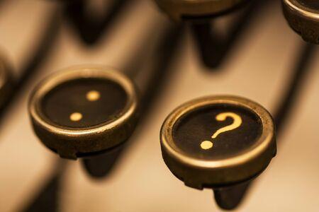 Close up of the key on an old manual typewriter keyboard. 写真素材