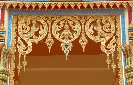 stucco in the temple photo
