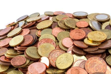 Pile of Euro coins close Stock Photo