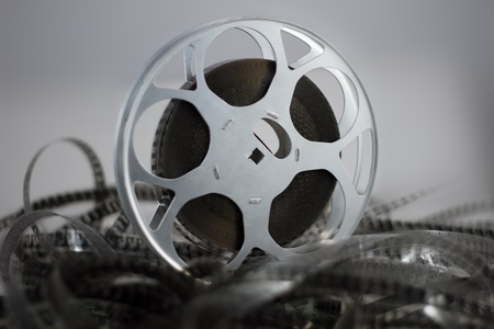 Film reel and celluloid green photo