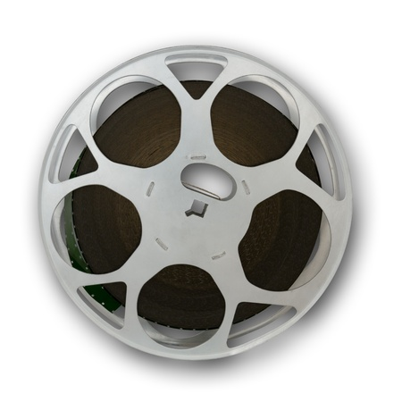 Film reel front view, small shadow incl clipping path photo