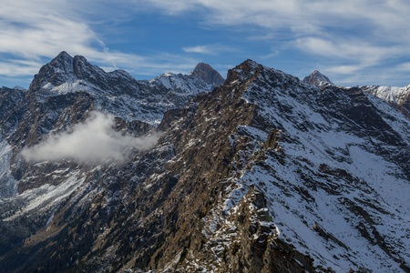 View from the Mutpeak south tyrol Stock Photo - 18223169