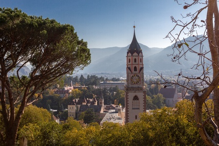 Merano, view from the Tappeiner Road Stock Photo