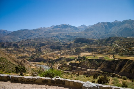 Colca canyon from the street Stock Photo - 18242737