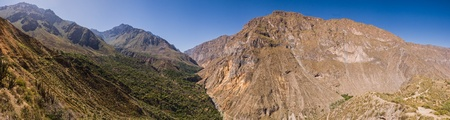 Colca Canyon panorama with trekking path Stock Photo - 18242781