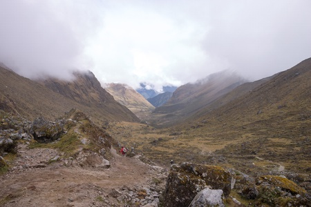 Col at the salcantay trail in Peru Stock Photo - 18242734