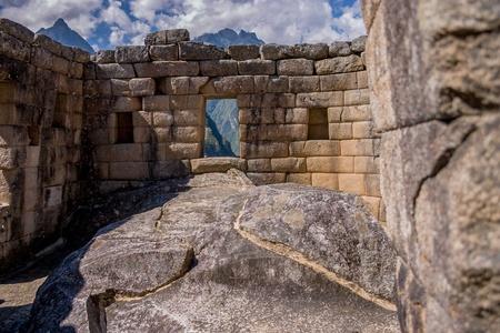 incan: Temple of the sun at Machu Picchu