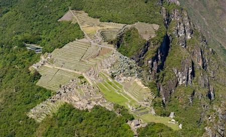 Machu Picchu panorama view from Huyana Picchu