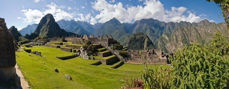 peru architecture: Machu Picchu panorama Stock Photo