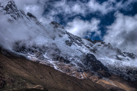 salkantay: Salcantay mountain in Peru as an HDR shot