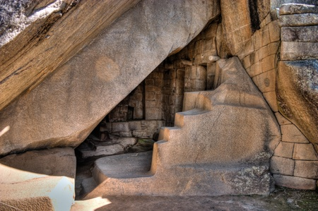Machu Picchu chamber underneath the temple of the sun