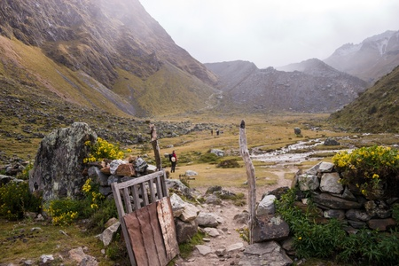 Trekking in the Peruvian Andes Stock Photo - 18242748