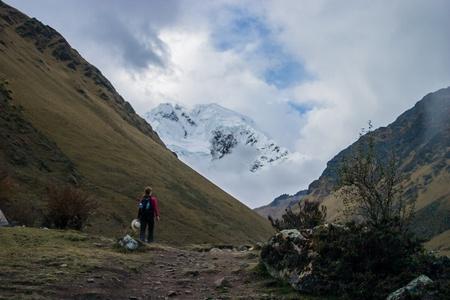 The salcantay trail in Peru