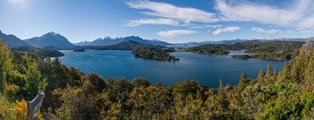 nahuel huapi: Nahuel Huapi lake at Bariloche Argentina PANORAMA
