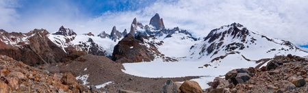 campo de hielo sur: Fitz Roy from to the laguna PANORAMA