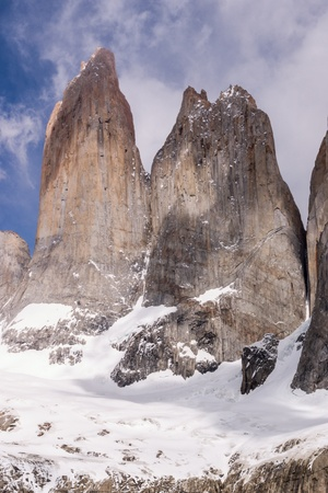 Torres del paine in Chilean National Park detail photo