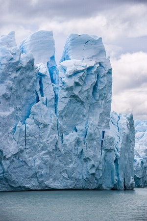 Perito Moreno glacier in Argentina close up photo