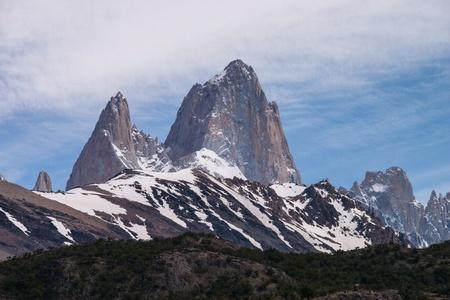 chalten: Mount Fitz Roy on the trekking tour from  El Chalten silhouette