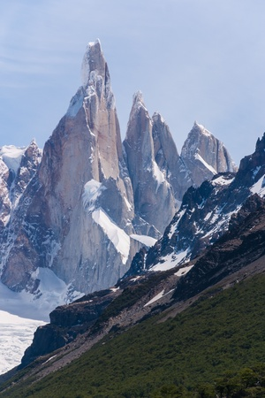 Cerro Torre from trekking road heading to the base camp Stock Photo - 18382431