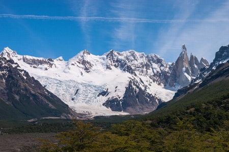 Cerro Torre from trekking road heading to the base camp Stock Photo - 18383240