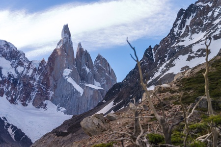 Cerro Torre from close to the laguna Stock Photo - 18382182