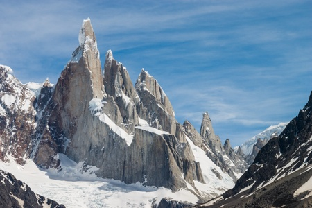 Cerro Torre at perfect weather no clouds horizontal photo