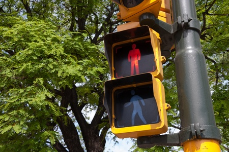 Traffic light in Buenos Aires photo