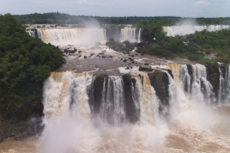 The Iguacu falls seen from the brazilian side