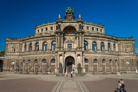 Semper Opera house in the summer