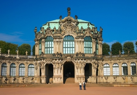 The famous Zwinger in Dresden Germany Stock Photo