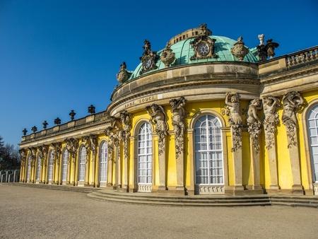 Sanssouci at crystal blue sky